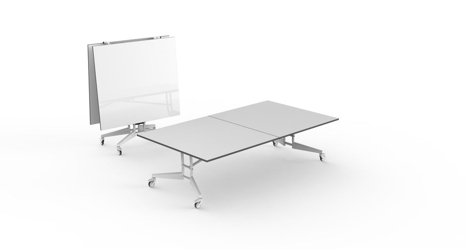 NOMAD Sport Ping Pong Conference Table White Gray