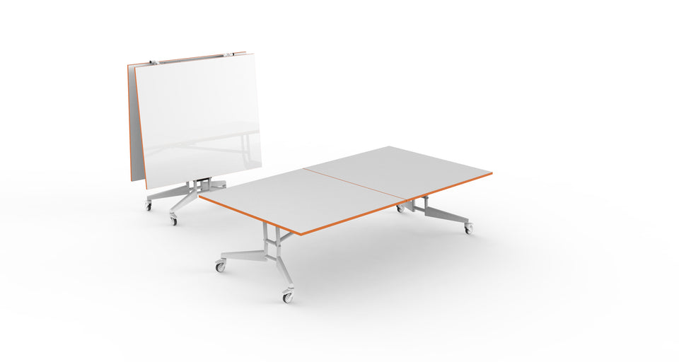 NOMAD Sport Ping Pong Conference Table White Orange