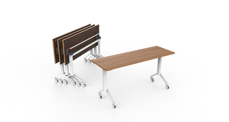 Training Tables office furniture in wood grain