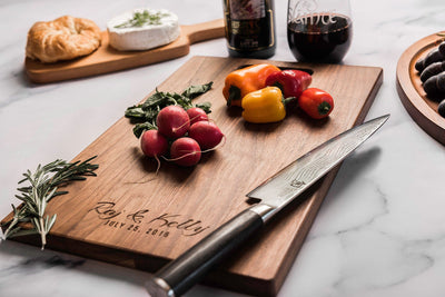 Cutting Boards Personalized, Custom Charcuterie Board with First Names & Date by Well Written Gifts