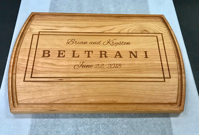 Cutting Board Personalized, Custom Wedding Gift, 5th Anniversary Gift by Well Written Gifts
