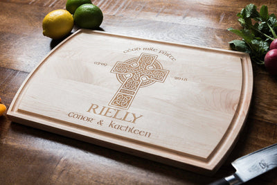 5th Anniversary Gift, Irish Wedding Gift, Cutting Boards Personalized by Well Written Gifts
