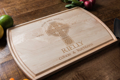 Wood Anniversary Gift, Irish Wedding Gift, Cutting Boards Personalized by Well Written Gifts