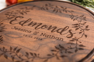 Cutting Board Personalized, Engraved Wood Wedding Gift, Custom Gift by Well Written Gifts