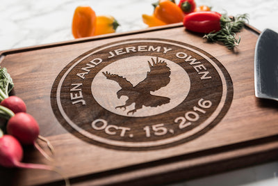 Personalized Cutting Board Engraved with Team Logo | Gift for Sports Fans