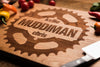Mountain Biking Wood Cutting Board | Gear Logo