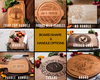 Cutting Board Personalized * Engraved Modern Round Wood Cutting Board