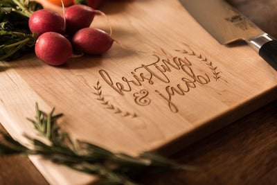 Personalized maple charcuterie board, Custom Cutting Board, Wedding Gift by Well Written Gifts