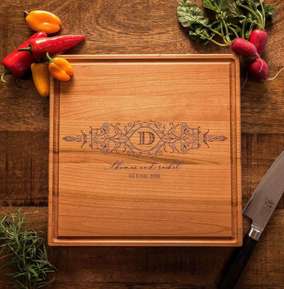 5th Anniversary Gift, Cutting Boards Personalized, Monogrammed Chopping Board by Well Written Gifts