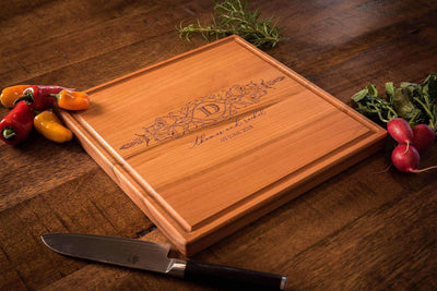 5th Anniversary gift, Cutting Boards Personalized, Monogrammed Cutting Board by Well Written Gifts