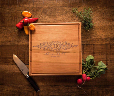 Cutting Boards Personalized, Monogrammed Cutting Board, 5th Anniversary Gift by Well Written Gifts