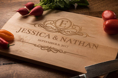 Personalized Cutting Board |  Monogrammed Wedding Gift by Well Written Gifts