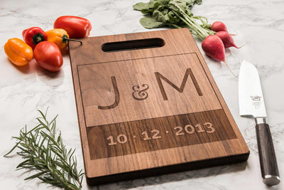 Personalized Charcuterie Board | Monogrammed Custom Cutting Board Wedding Gift by Well Written Gifts