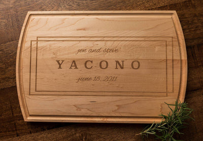 Personalized Custom Cutting Board, Wedding Gift for Couple, Anniversary Gift by Well Written Gifts