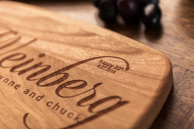Custom engraved cheese board, Cutting boards personalized, engagement gift by Well Written Gifts