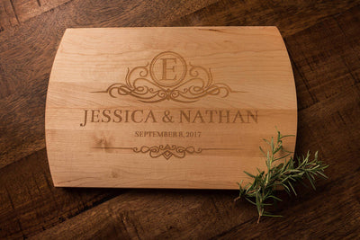 Monogrammed Wedding Gift | Custom Cutting Board | Personalized Cutting Board by Well Written Gifts