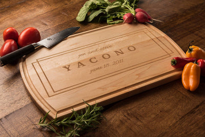 Modern Personalized Cutting Board, Anniversary Gift, Custom Wood Gift by Well Written Gifts