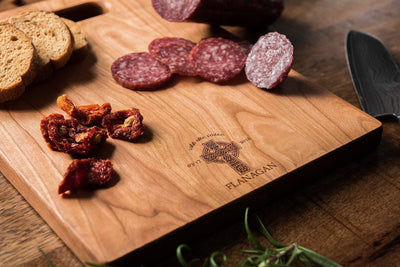 Irish Gift, Celtic Cross Charcuterie Board Personalized, Wood Cutting Board - Well Written Gifts