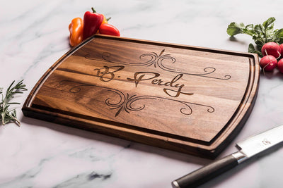 Engraved Wood Cutting Board Personalized with Name by Well Written Gifts
