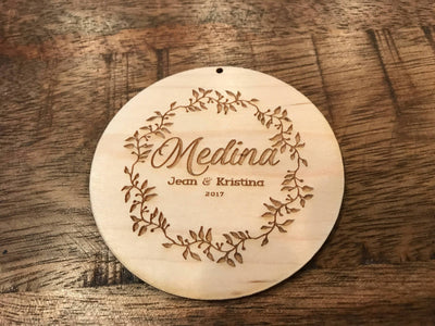 Engraved wood gift with your words on the back by Well Written Gifts
