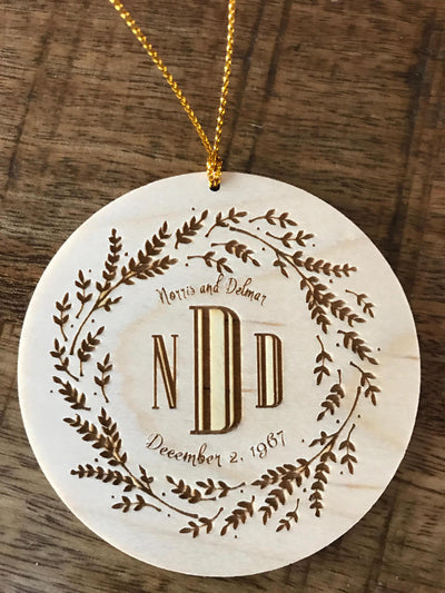 Engraved Wood Gift Tag with Your words Engraved on the Back - by Well Written Gifts