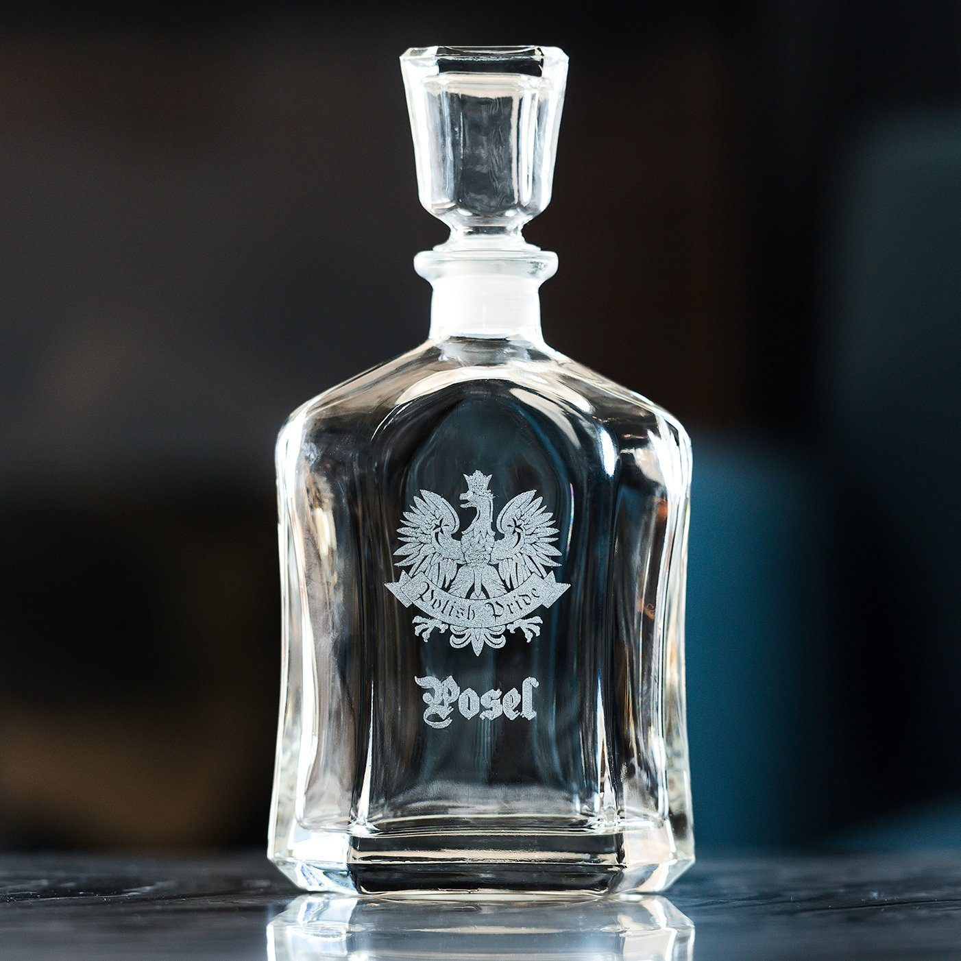 Personalized Whiskey Decanter Engraved Polish Pride Decanter Custom