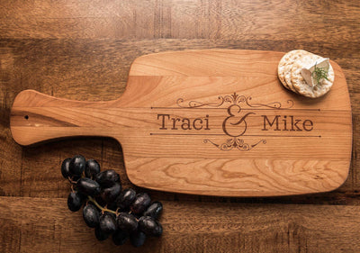 Cheese Board, Cutting Boards Personalized, Wedding Gift for Couple by Well Written Gifts