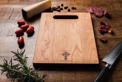Celtic Cross Charcuterie Board Personalized, Wood Cutting Board Irish Gift - Well Written Gifts