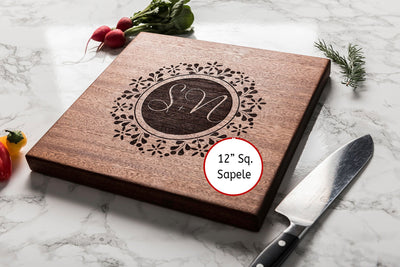 Engagement Gifts for Couple - Custom Cutting Board - Personalized Wood Chopping Board -  Unique Wedding Gifts - Housewarming Gifts