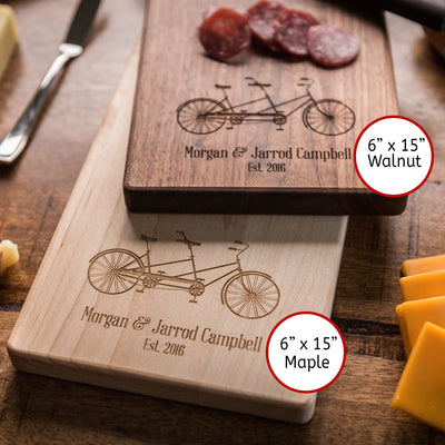 Personalized Cheese Board, Charcuterie Board Engagement Gift for Couple, Baguette Board Housewarming gift, Custom Cutting Board Wedding Gift