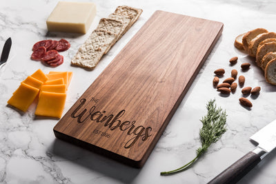 Personalized Cheese Board, Baguette Board Housewarming Gift, Charcuterie Board Engagement Gift for Couple, Custom Cutting Board Wedding Gift