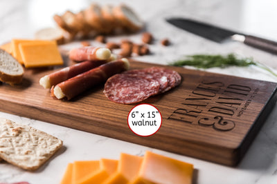 Personalized Wood Cheese Board - Charcuterie Board - Baguette Board - Custom Cutting Board - Engagement Gift for Couple