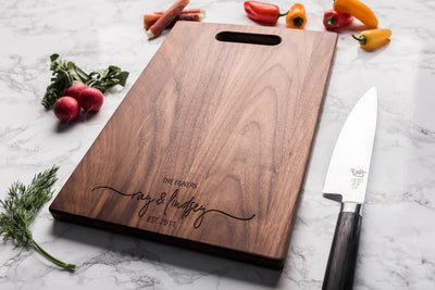 Personalized Charcuterie Board - Custom Wood Cutting Board - Engagement Gifts for Couple - 5th Anniversary Gift - Engraved Wedding Gift