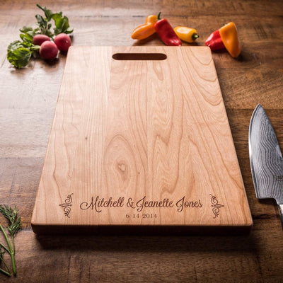 Personalized Charcuterie Board, Engagement Gift for Couple, Custom Cutting Board Wedding Gift, 5th Anniversary Gift, Housewarming Gift