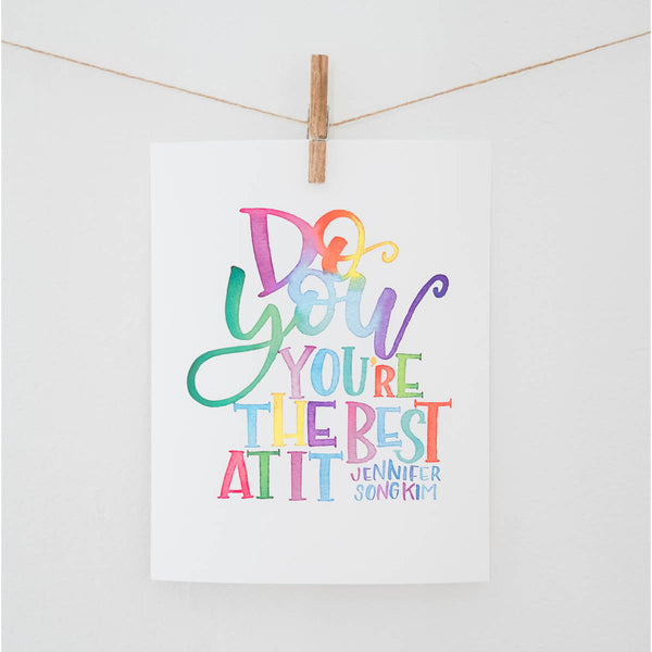 Do You Watercolor Print