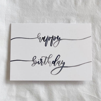 Happy Birthday Calligraphy Card