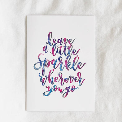 Leave a Little Sparkle Card
