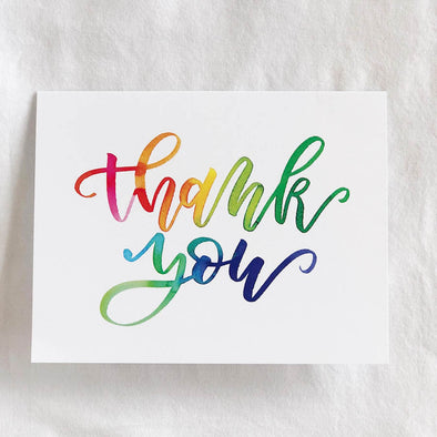 Thank You Calligraphy Card