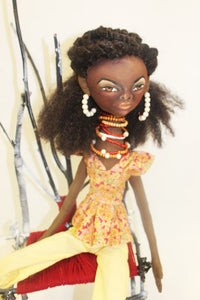 Brave - African American Cloth Doll
