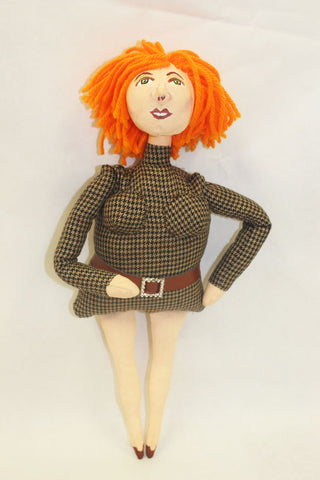 Molly *  Hand-Painted Cloth Doll