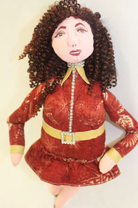 Lorraine *  Hand-Painted Cloth Doll