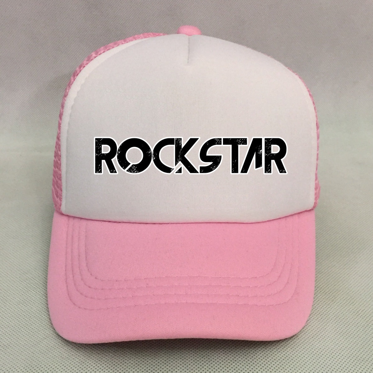 Rockstar Trucker Hat (Pink) – The Little Discovery Train 48f3c582417