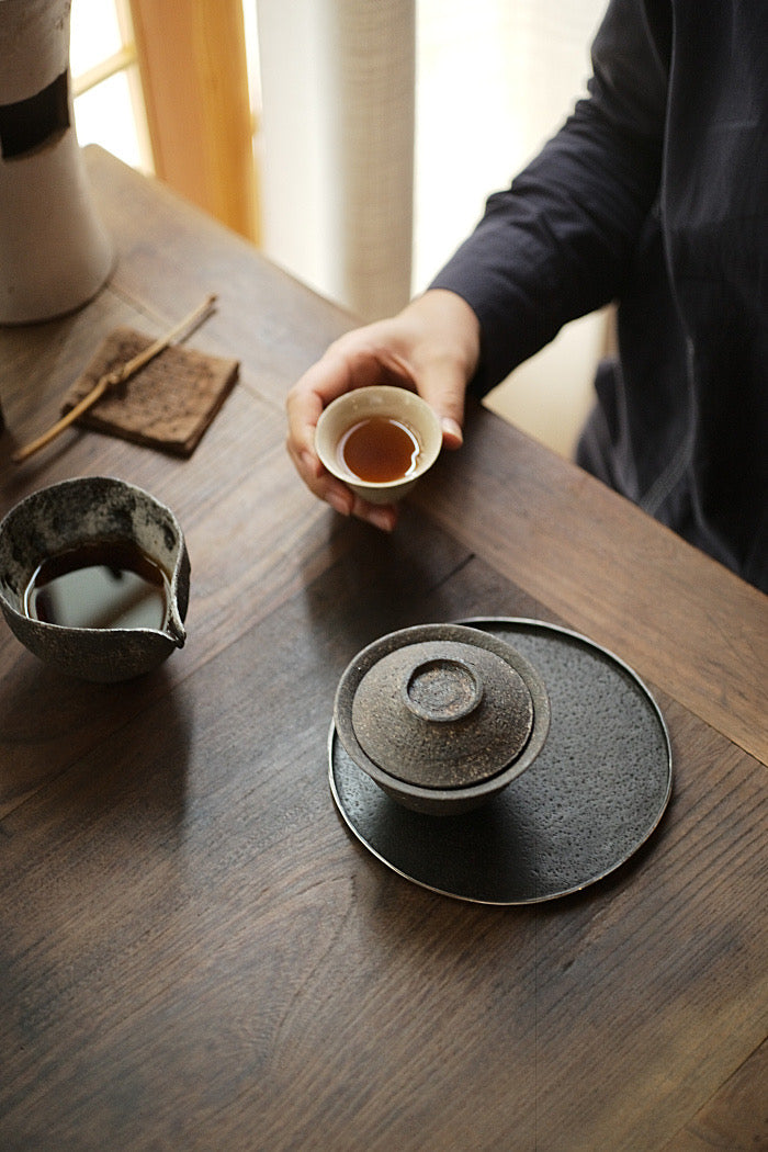 Natural Earth Textured Gaiwan