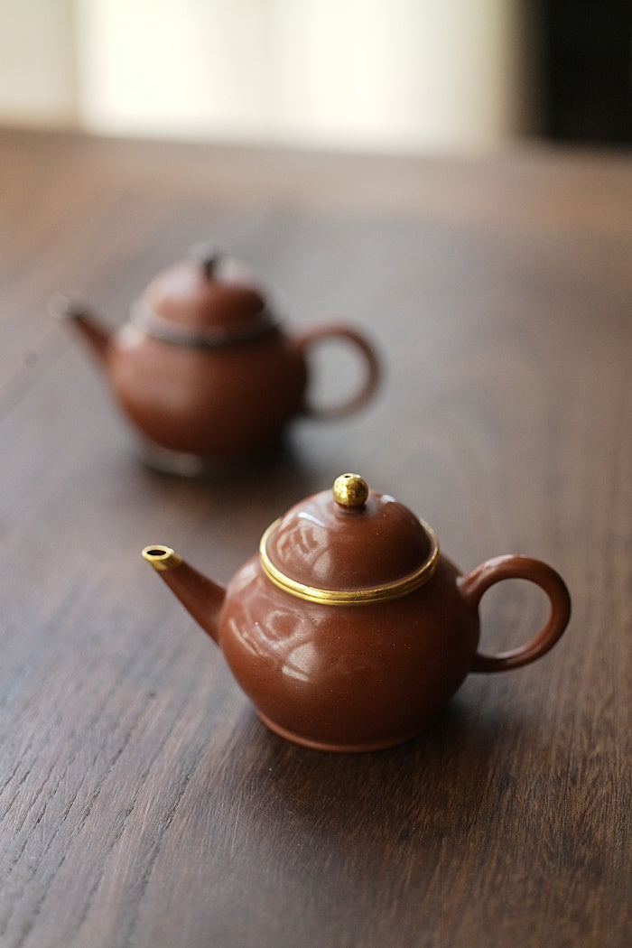 24k Gold Treasure Zisha Teapot