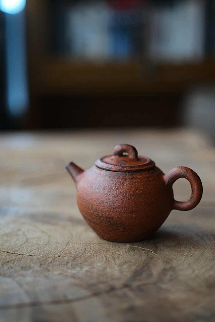 Red-Earth Brushed Teapot