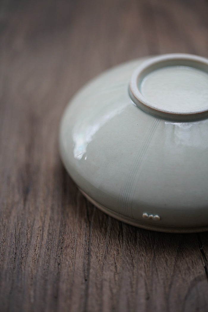 Elegant Ash-Glazed Hucheng with Coin-Motif Hole and Round Body