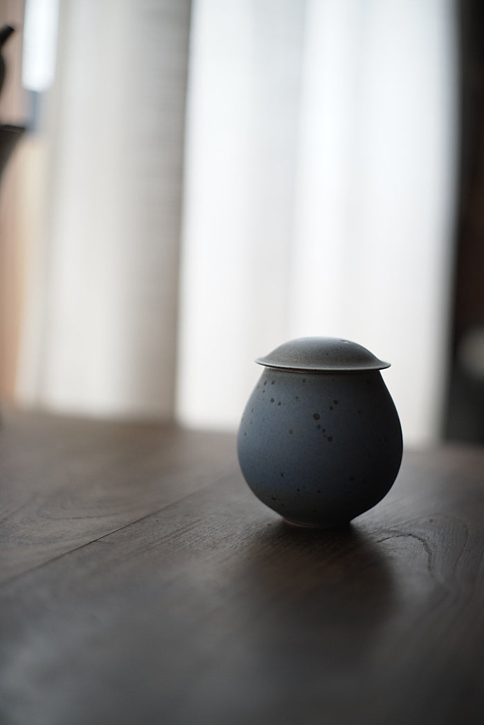 Blue Dragon Egg Small Tea Jar
