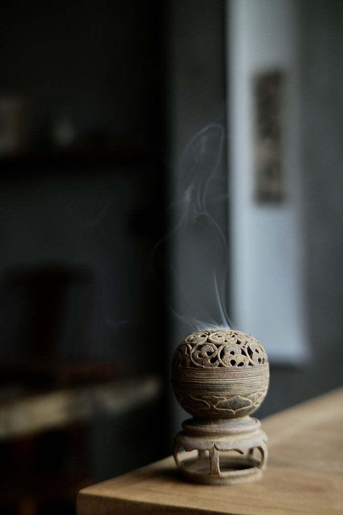 Lotus & Vines Incense Burner