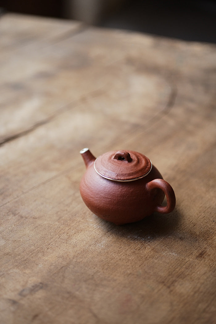 Limited Edition Silver Lined Hui Shan Red Clay Teapot