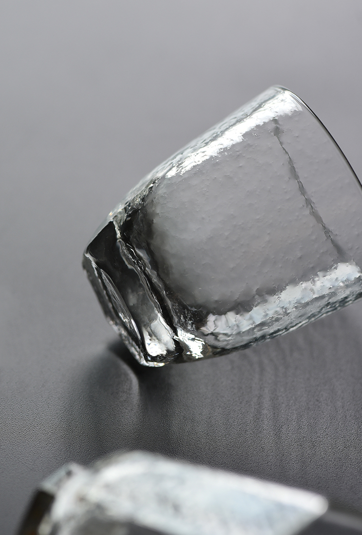 Refined Hammered Glass Tea Cup